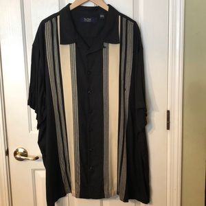 Nat Nast Embroidered Black Bowling Shirt 3XL